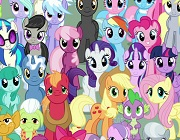 Find the object among the ponies
