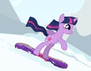 Twilight snowboarding